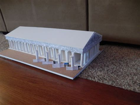 How To Make A Temple Out Of Paper - how to make a to scale model of the parthenon in greece