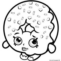 donut coloring page d lish donut shopkins season 1 to print coloring pages