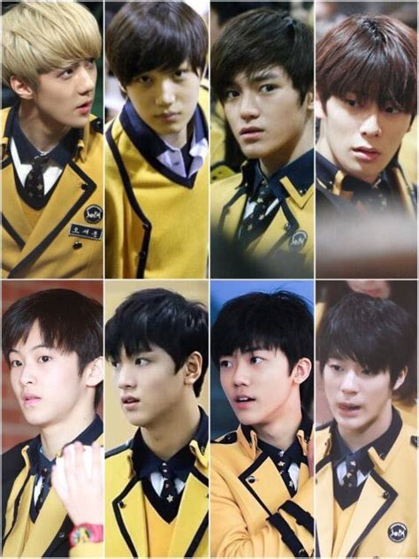 Seragam Sekolah Sopa bikin salah fokus gantengnya 8 idol sm dengan seragam