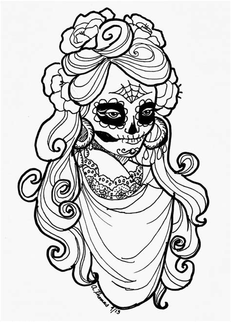 day of the dead art coloring pages 146 best skully dulce images on pinterest coloring books