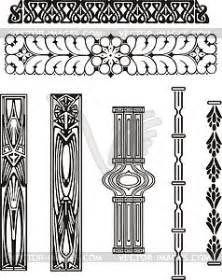 ornamente jugendstil ornamente im jugendstil vector clipart eps