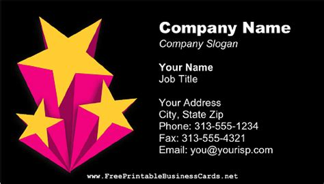 entertainment business card template free shooting business cards gallery card design and