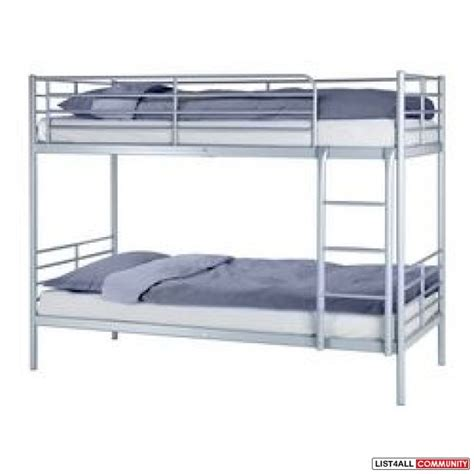 bunk beds ikea bunk bed ikea tromso with sultan foam mattress peaks