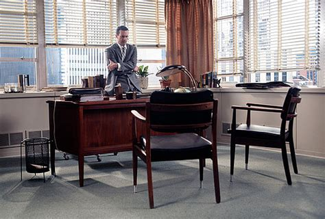 mad men office get the look draper s dapper desk area on mad men