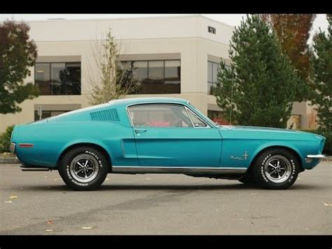 1968 ford mustang fastback gulfstream aqua youtube