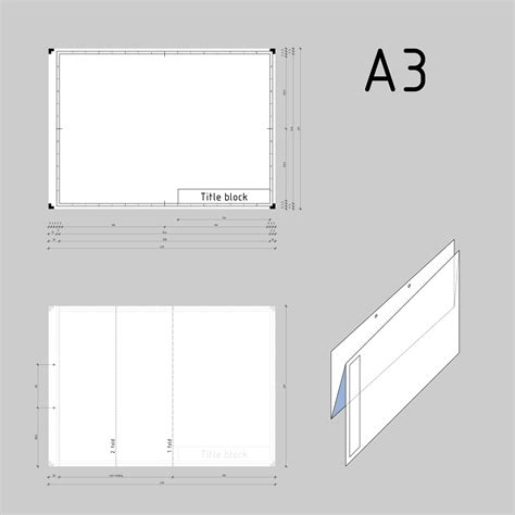 How To Fold A3 Paper - clipart din a3 technical drawing format and folding