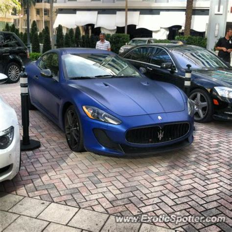 Maserati Ft Lauderdale by Maserati Granturismo Spotted In Ft Lauderdale Florida On