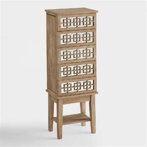 Hardwood Jewelry Armoire by White Wood Lavarre Jewelry Armoire World Market