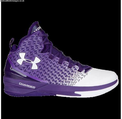 purple armour basketball shoes purple white mens armour clutchfit drive shoes