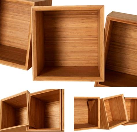 wood box shelves twisted wooden boxes work as wall shelves bookcases