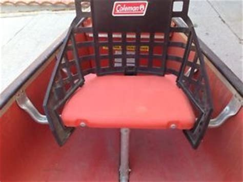 coleman canoe seat back pin coleman canoe seats with backs on