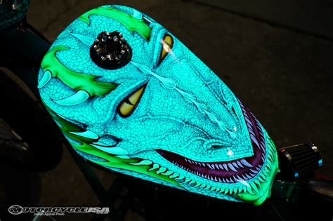 glow in the paint on motorcycle lumilor el coating system debuts in daytona motorcycle usa