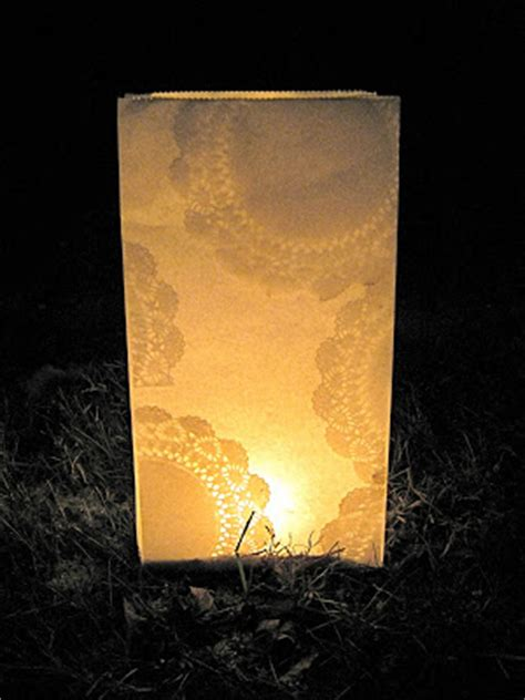 patterns for paper bag luminaries a tale of two bloggers diy doily luminaries