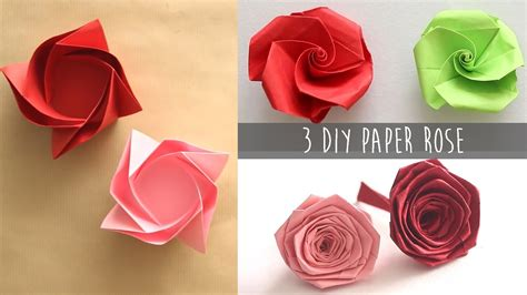 Make Easy Paper Roses - 3 easy diy paper