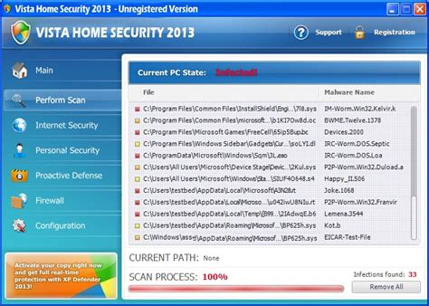 how to remove vista home security 2013 virus