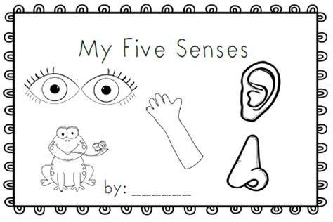 My Five Senses Coloring Pages mrs black s bees my five senses emergent reader