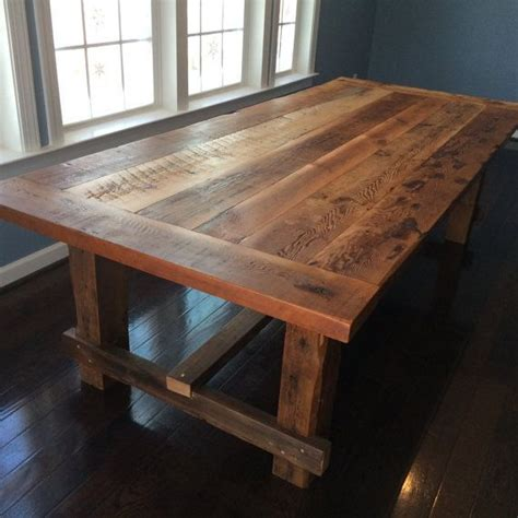 Diy Reclaimed Wood Dining Table Farm Style Dining Table Made From Reclaimed Barn
