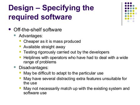The Shelf Software Disadvantages by The Systems Cycle