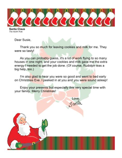 Thank You Letter Santa Template Free 7 Best Images Of Free Printable Thank You Letters Letter Templates From Santa Thank