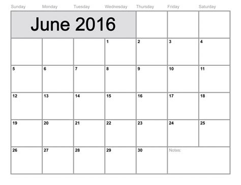 june 2016 calendar printable 8 x 11 free calendar template