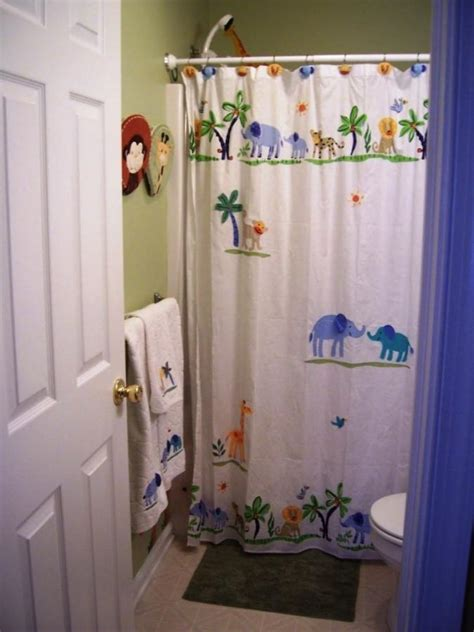 kids jungle shower curtain 15 wonderful themed shower curtains for kid s bathroom