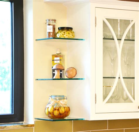 Glass Shelves Kitchen Cabinets Photo Gallery Glass Shelving