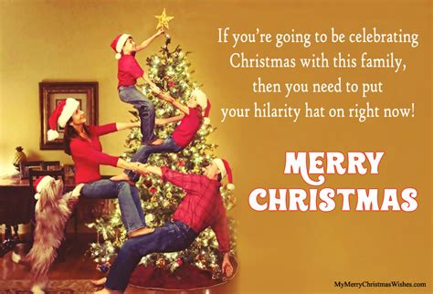 funny family christmas quotes card