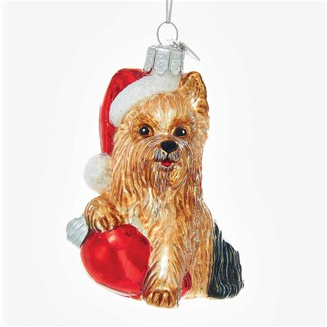 holiday yorkie christmas ornament gump s