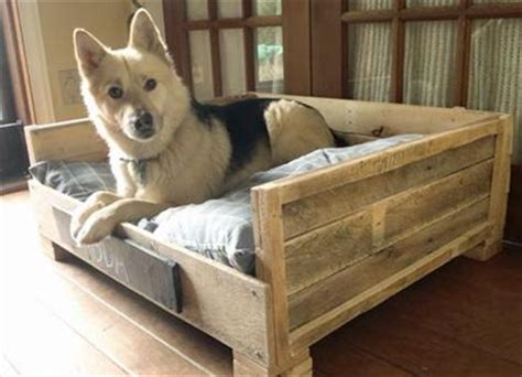 diy wooden dog bed pallet dog bed fun filled use of pallet woods wooden