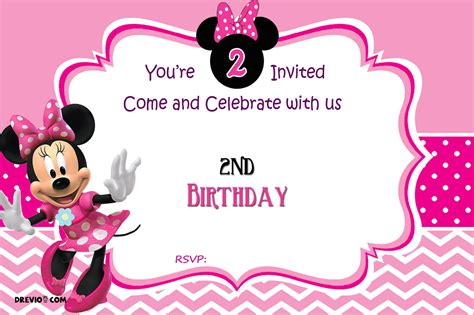 minnie mouse 1st birthday invitations templates free minnie mouse 2nd birthday invitation template