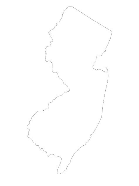New Jersey State Map Outline by New Jersey Map Template 8 Free Templates In Pdf Word Excel