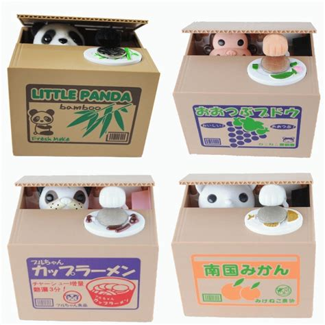 Maiinan Anak Edukasi Mainan Anak Robot Anjing celengan kucing monyet panda lucu mainan edukasi anak