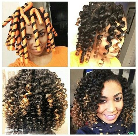 nautral hair om flex rods with braid 17 best images about roller patterns for curls on