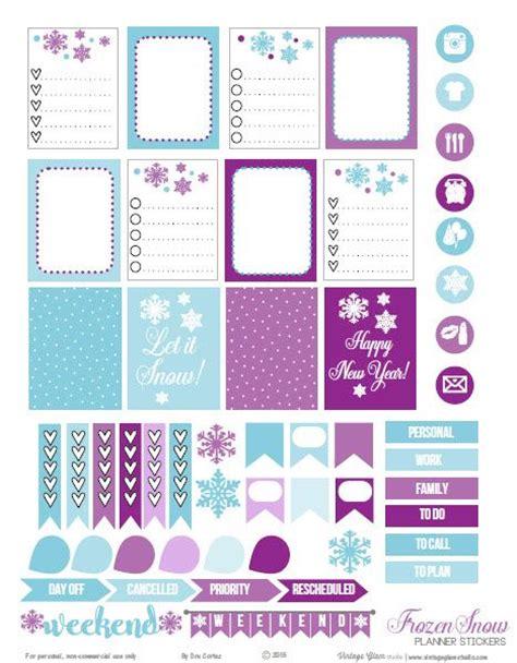 printable frozen stickers frozen snow planner stickers free printable my erin