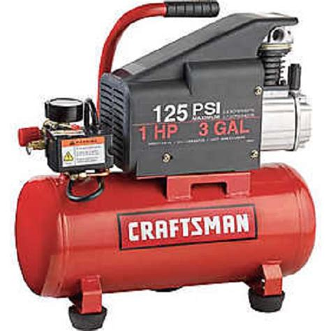 craftsman 3 gallon air compressor craftsman 3 gallon air compressor 1hp 125 psi ebay