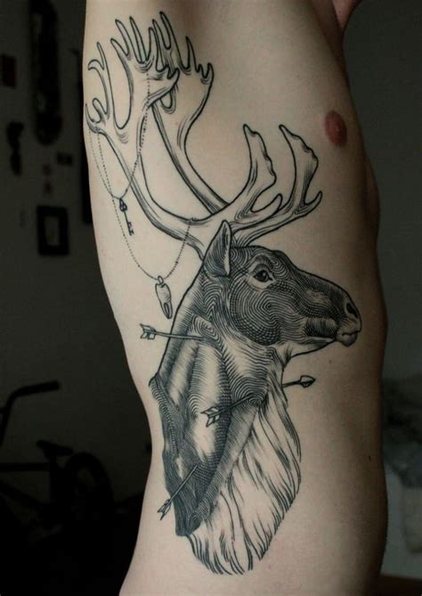 cool hunting tattoos cool deer creativefan