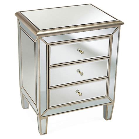mirrored nightstand 3 drawers one kings lane blowout sale save furniture home decor