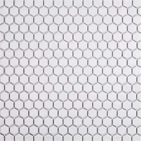 eden matte white hexagon ceramic tile tilebar com