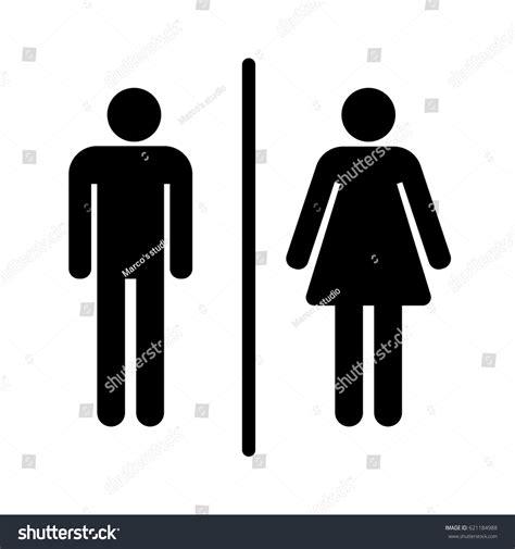 male female bathroom sign images male female bathroom sign stock vector 621184988