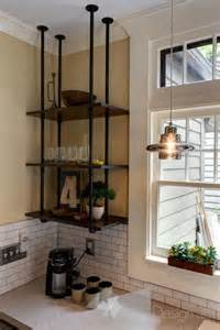 suspended shelves kitchen 25 best ideas about plumbing pipe furniture on