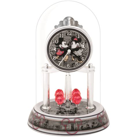 disney mickey mouse minnie and mickey anniversary clock
