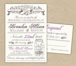 vintage wedding invitations template best template collection
