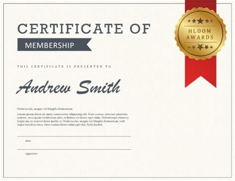 certification letter for membership 5 certificate of membership templates free