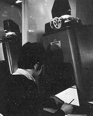 Sjsu Library Reserve Room by Microfilm Reader 1967 Dr Martin Luther King Jr Library