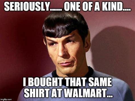 Same Shirt Meme - spock imgflip