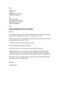 Immediate Resignation Letter Exles by Resignation Letter Format Marvelous Sle Immediate Resignation Letter No Notice Personal