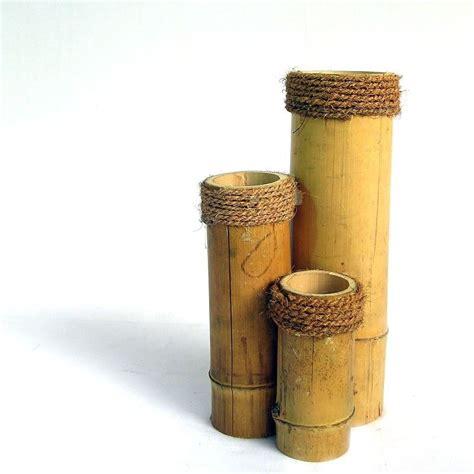 floreros rusticos de madera 15 ideas para decorar con bamb 250 ecoideas pinterest