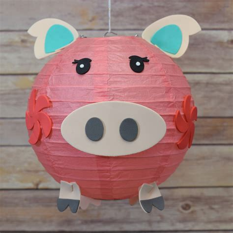 Craft Paper Lantern - kid craft project paper lantern animal diy kit pig