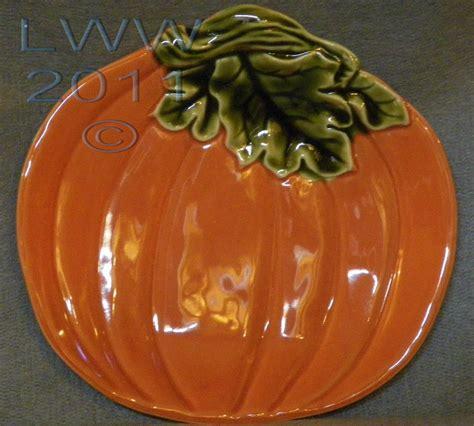 better homes and gardens harvest fall autumn pumpkin plate plates