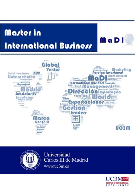 A M International Mba by Master S Degree In International Business Carlos Iii